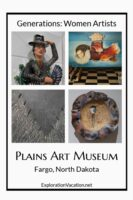 4 images from women's art show at the Plains Art Musem