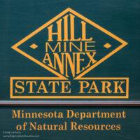 sign for Hill Annex Mine Annex State Park