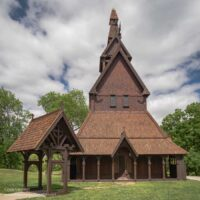 external view of a stave church