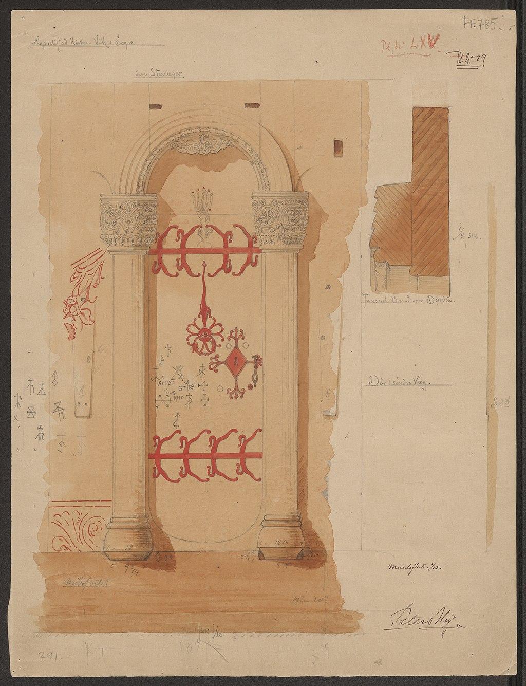 drawing of doorway