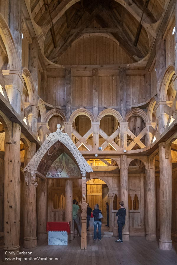 interior of church showing baldachin