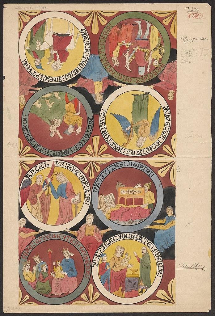painted religious scenes