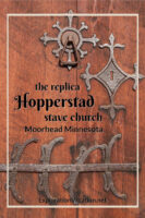 """stave church door with text """"the replica Hopperstad stave church"""""""