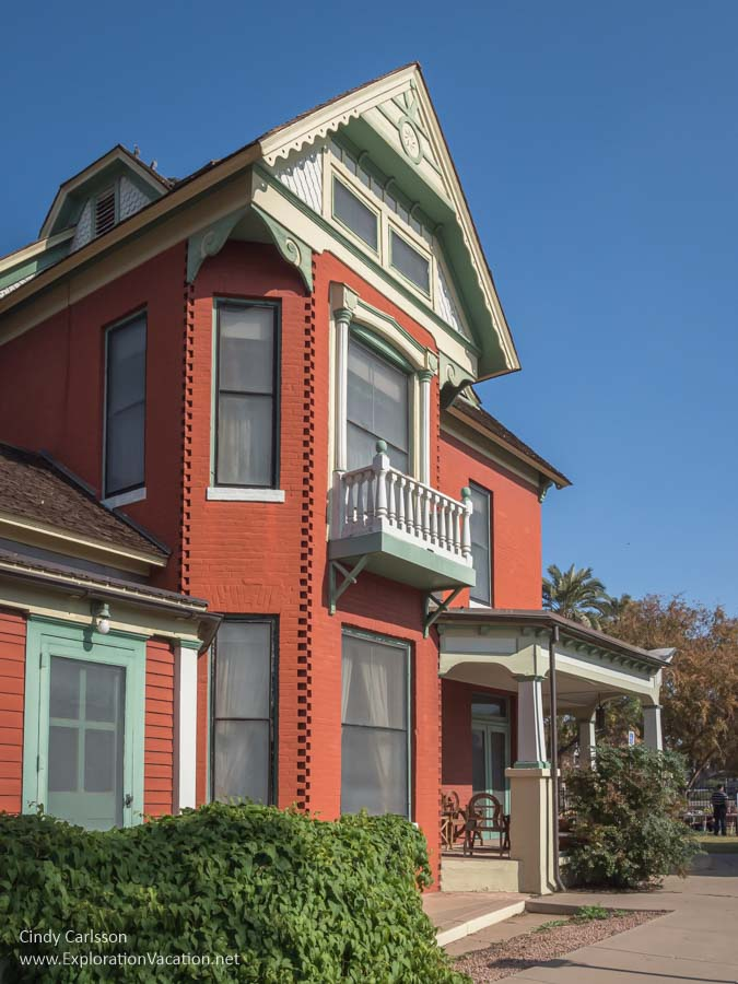 Exterior of a brick Queen Anne style house