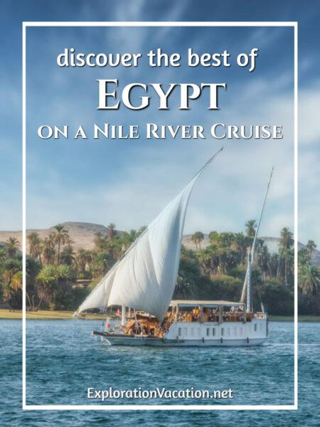 a traditional dahabiya sails on the Nile