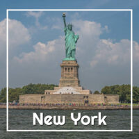 "Statue of Liberty with text ""New York"""