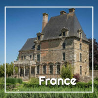"old chateau with text ""France"""