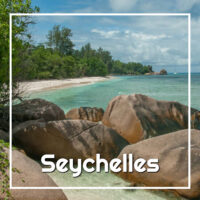 "Beach with text ""Seychelles"""