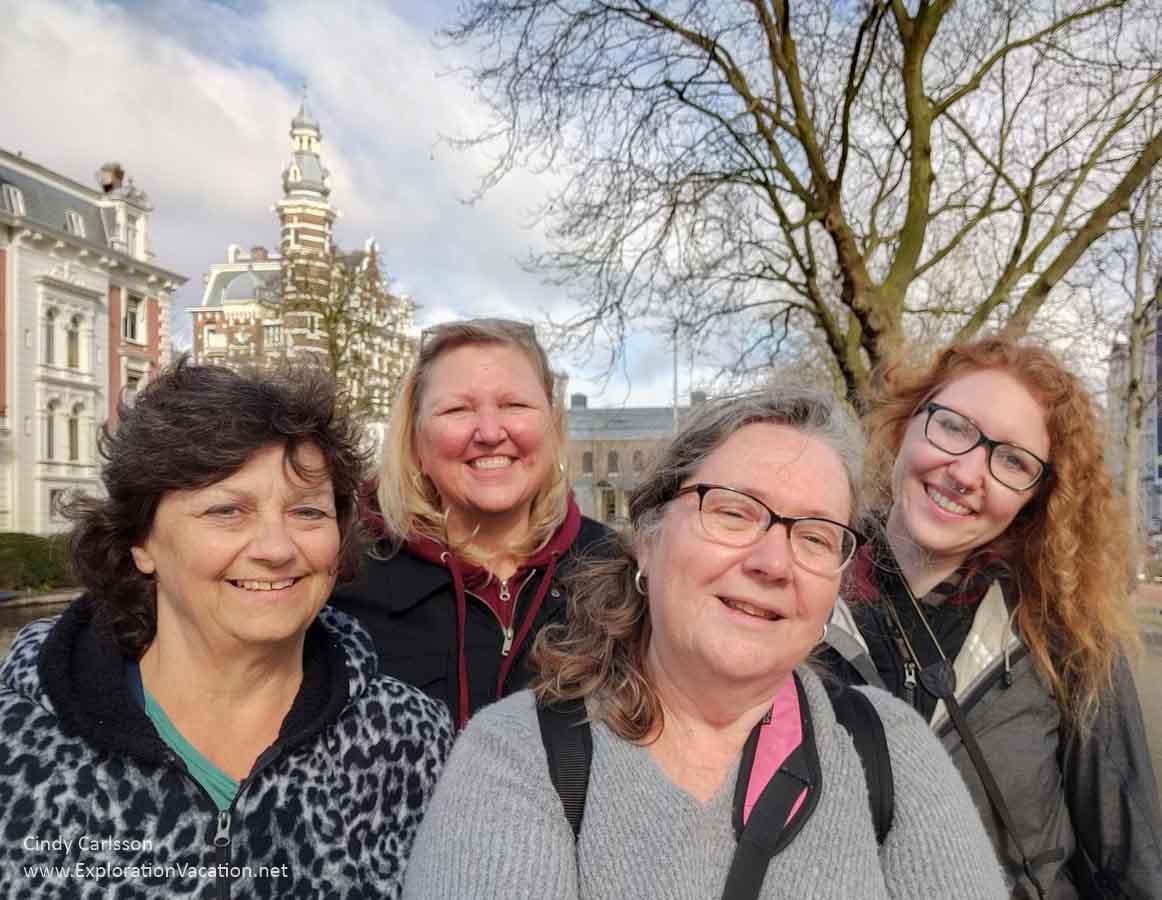 group selfie in Amsterdam