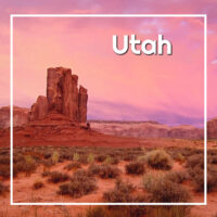 "Monument Valley with text ""Utah"""