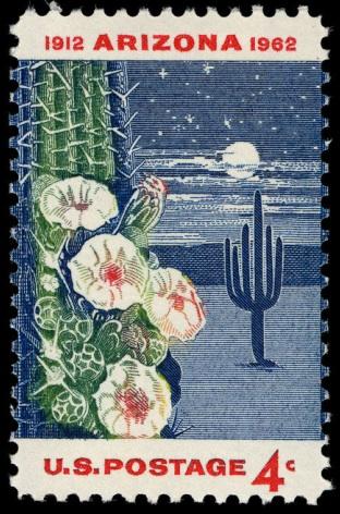 1962 Arizona statehood postage stamp