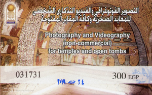 photography pass for visiting tombs