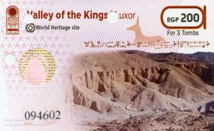ticket for Valley of the Kings