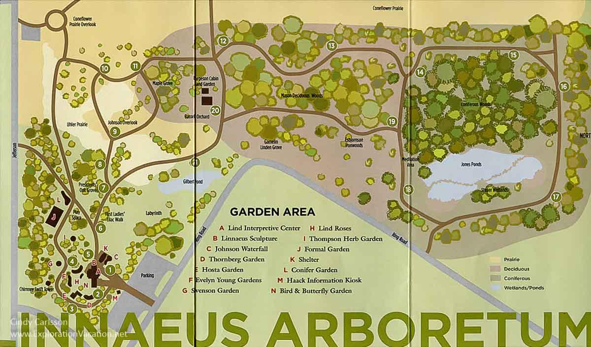 map of arboretum