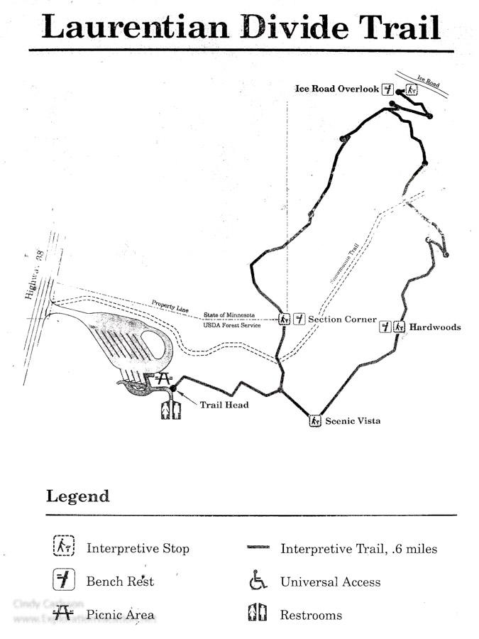 Laurentian Divide Wayside trail map