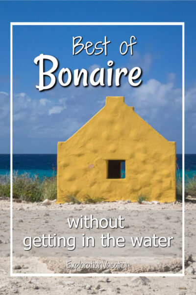 """yellow stucco building with text """"the best of Bonaire without getting in the water"""""""