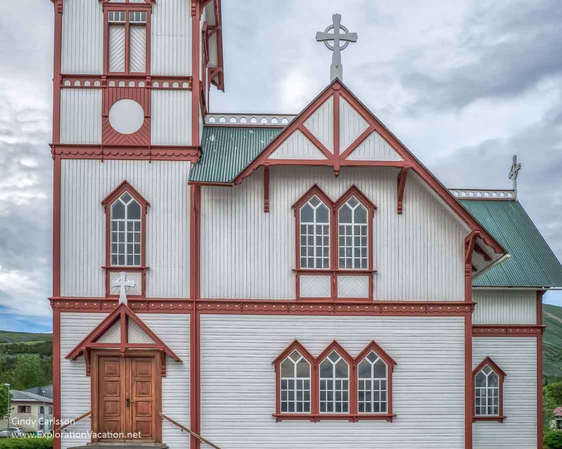 colorful wooden church