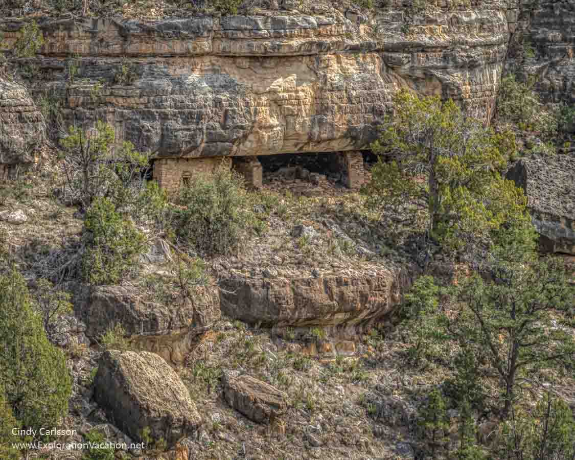 cliff dwelling from a distance