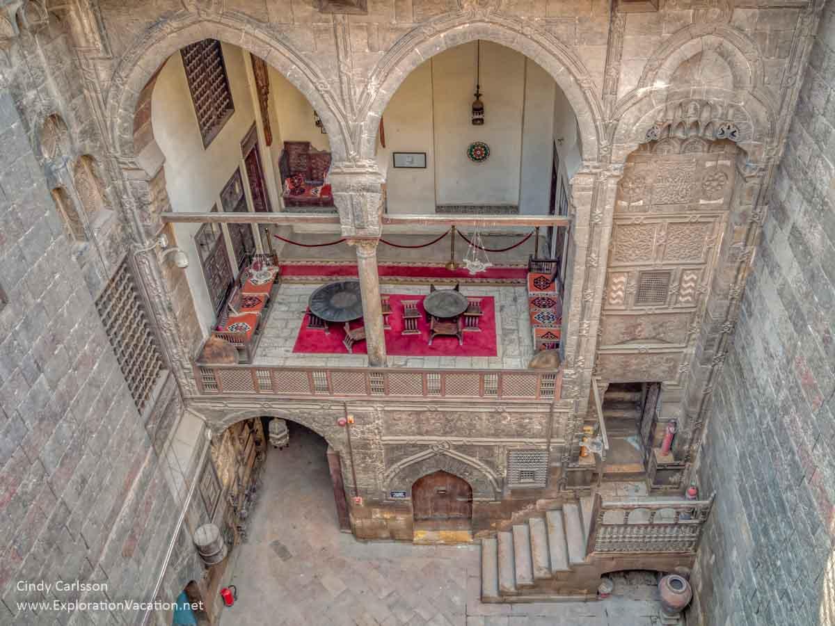An open-air room in an Islamic courtyard house