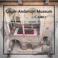 "courtyard with text ""Gayer-Anderson Museum Cairo"""