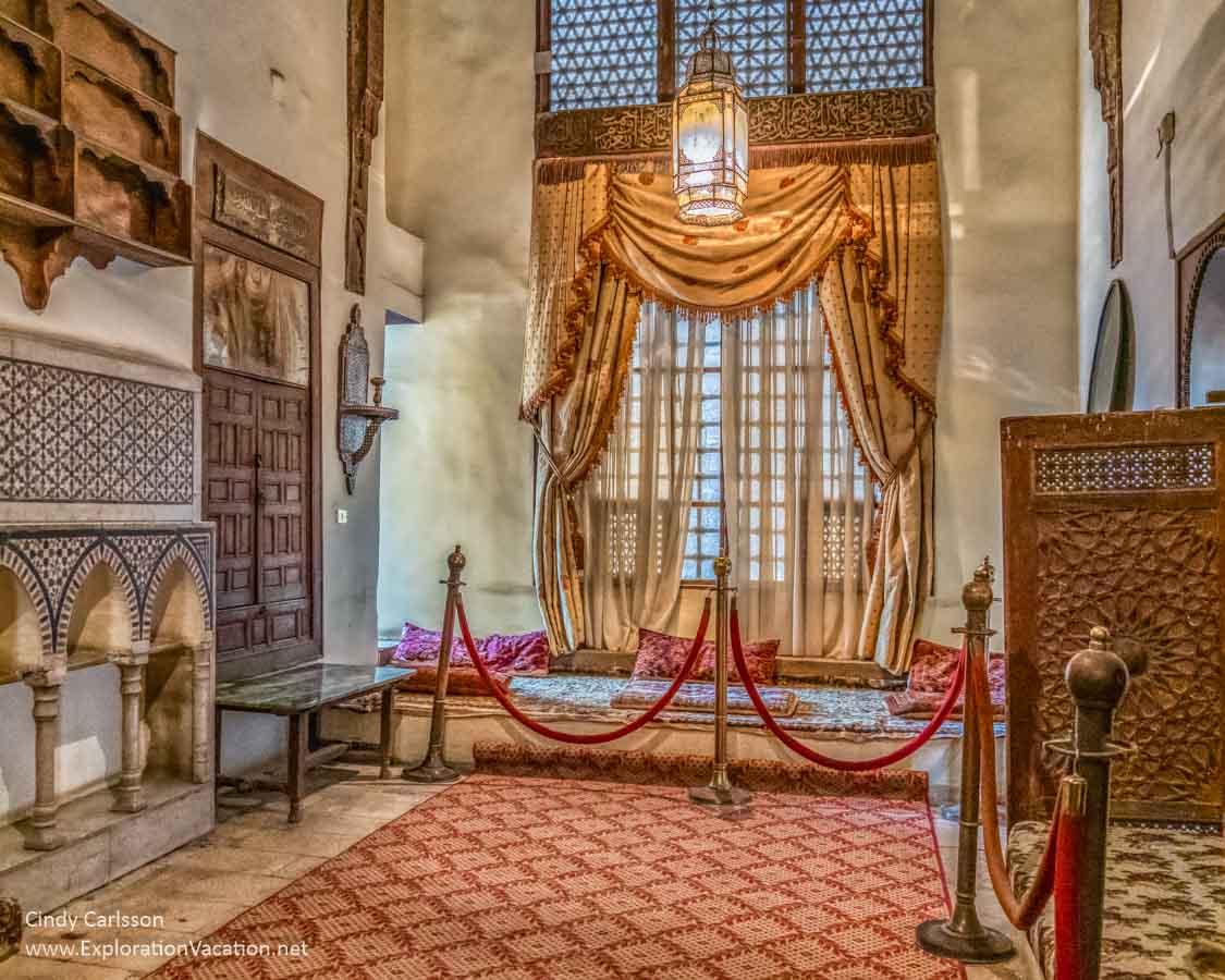 interior of a lavish hall