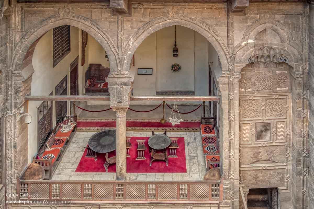 open air loggia in Cairo Egypt