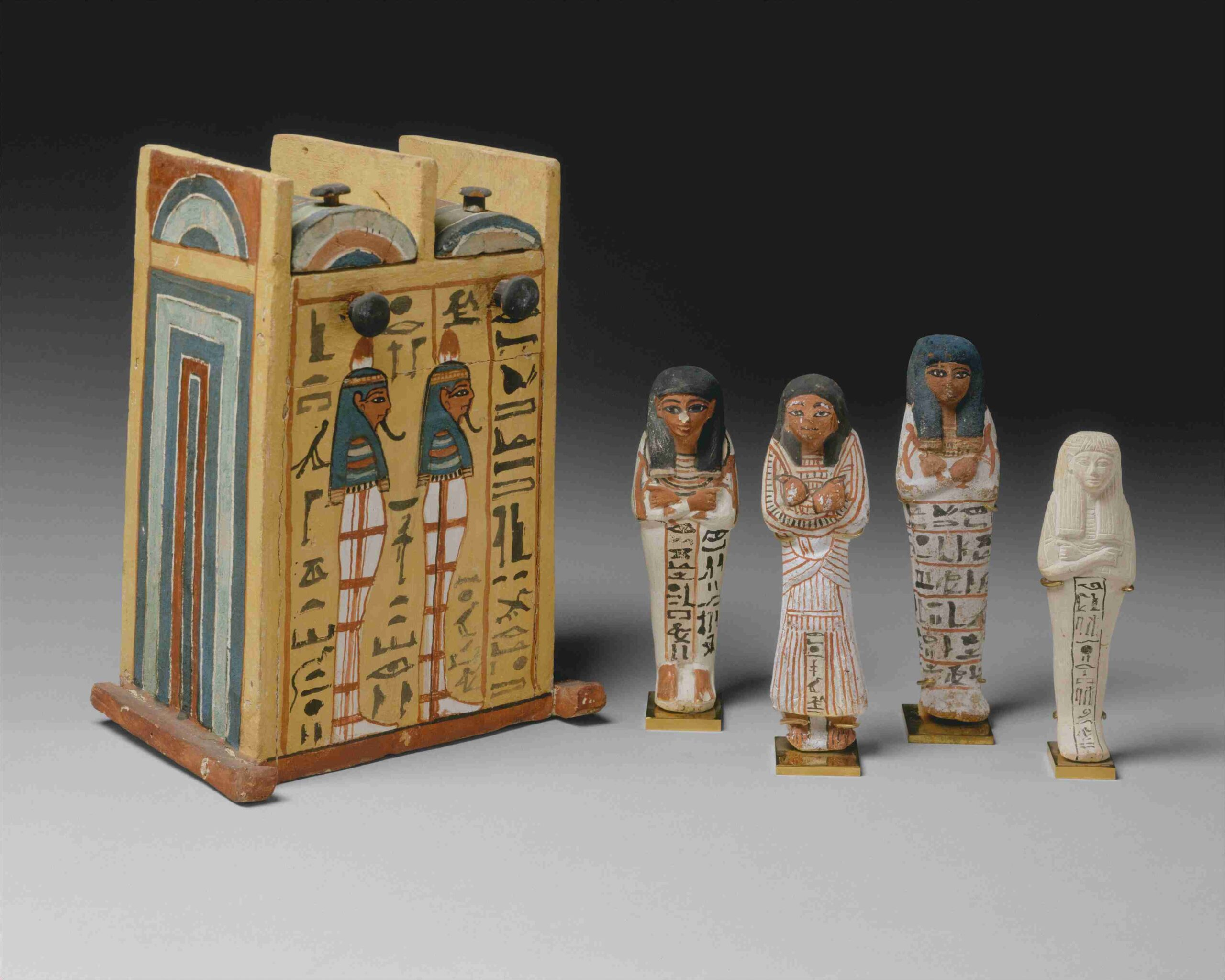 miniature figures from an Egyptian tomb