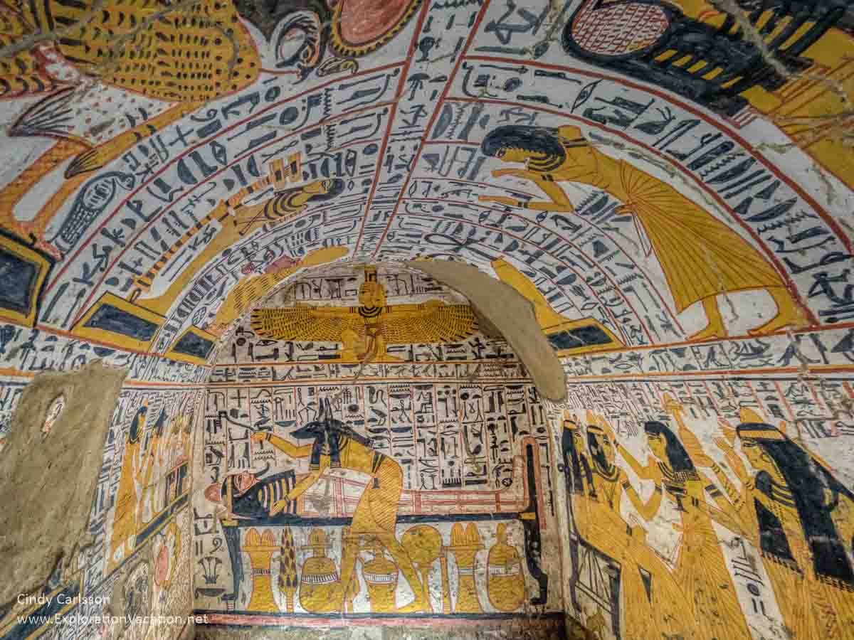painted interior of a tomb