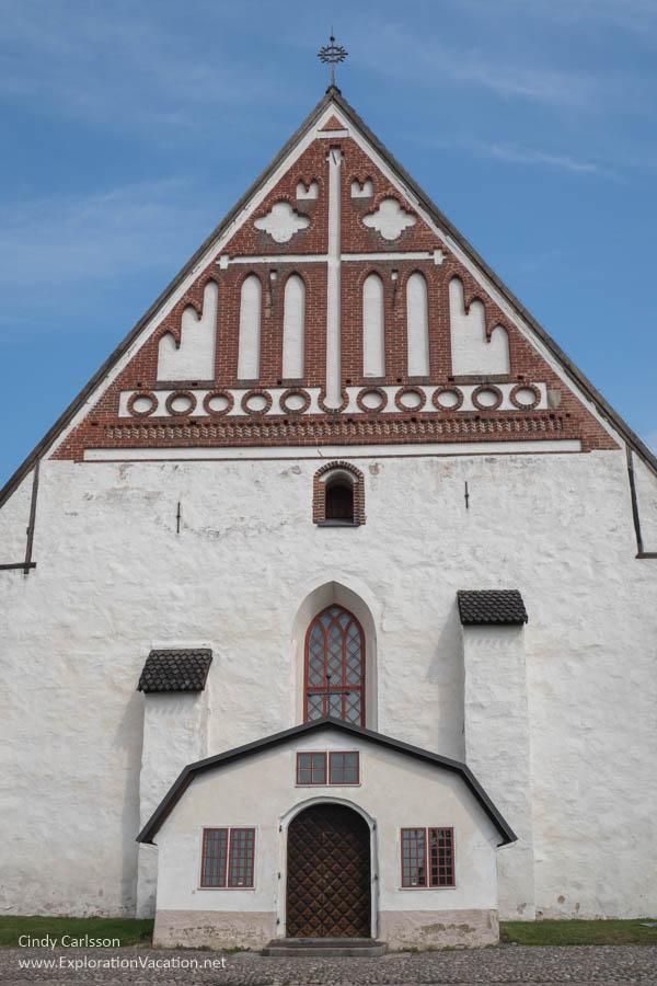 Exterior of a Scandinavian Gothic church