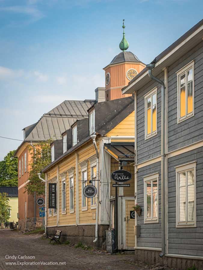 Street with historic Scandinavian buildings