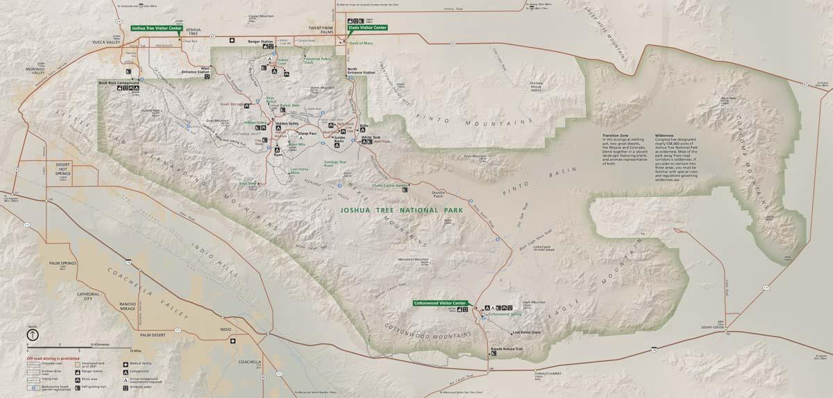 Joshua Tree National Park map