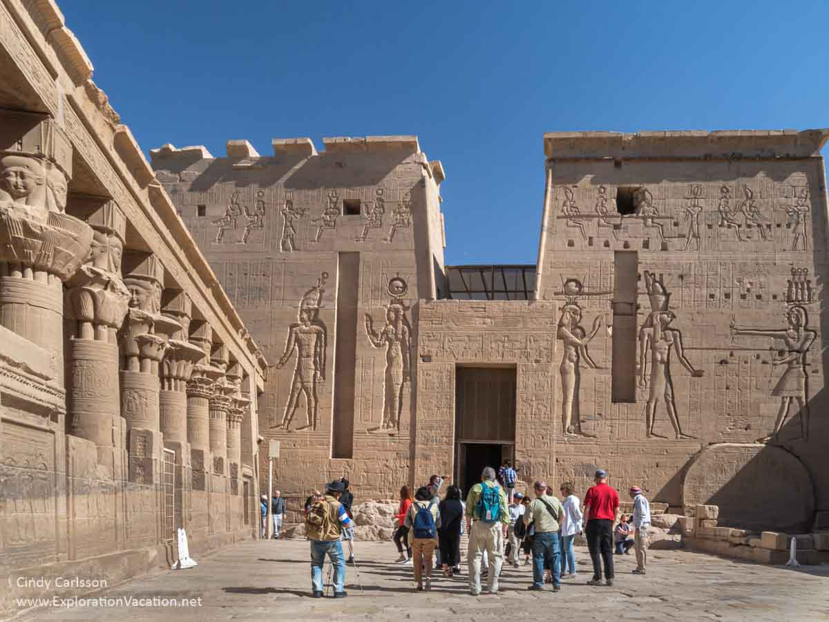 photo of entrance into Philae temple