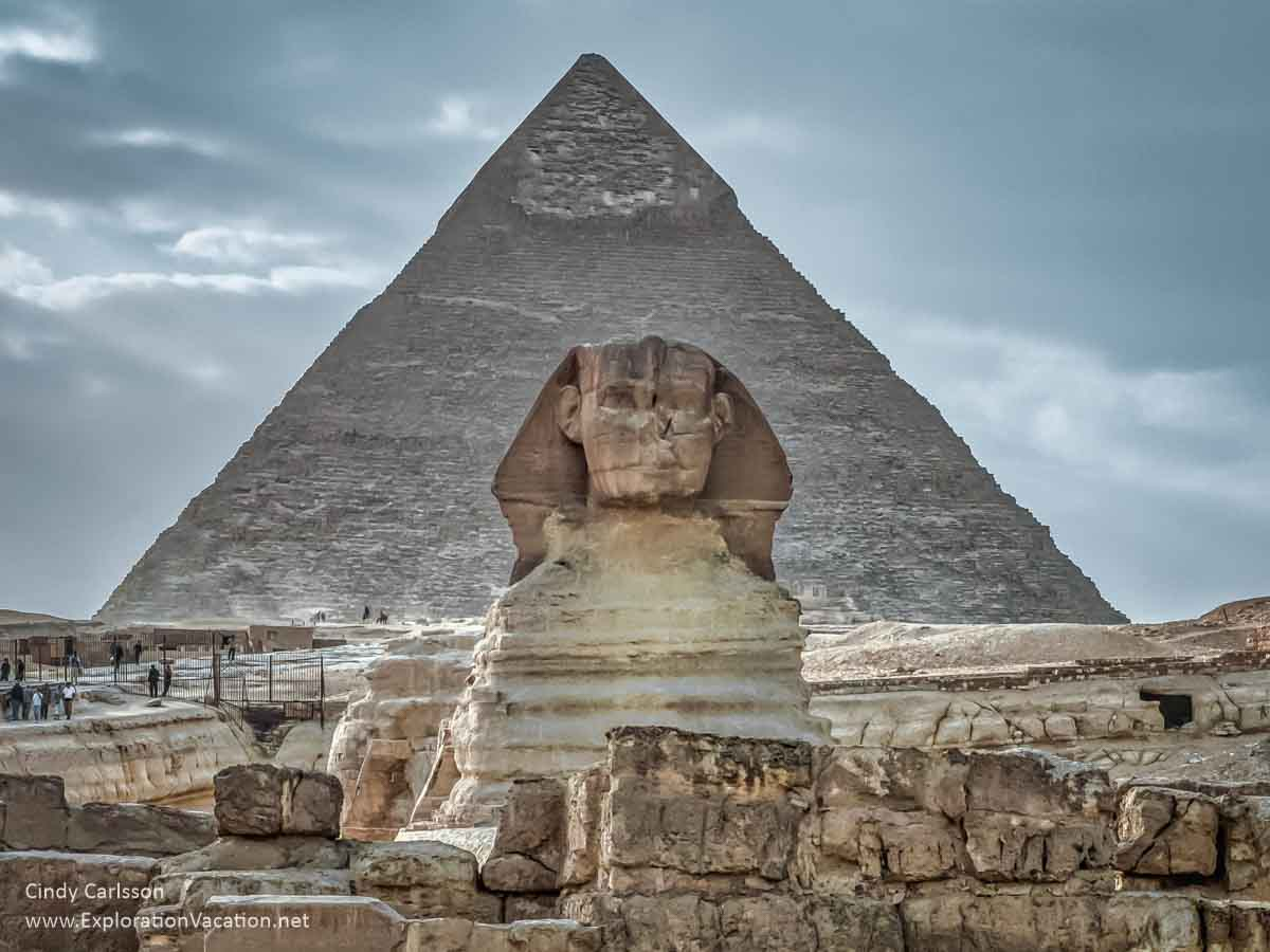 photo of Sphinx and pyramid in Egypt