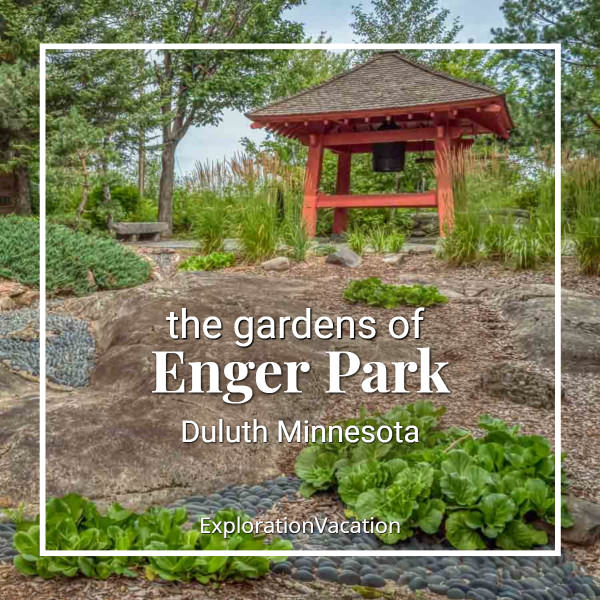 Permalink to: Enger Park gardens and peace bell, Duluth, Minnesota