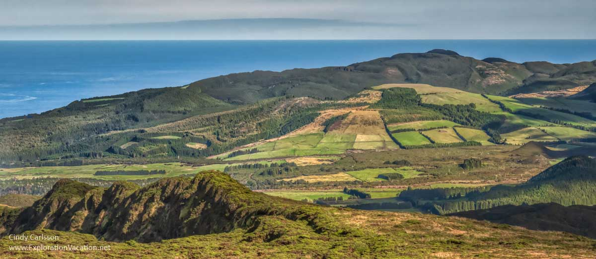 Landscape of Terceira seen from above