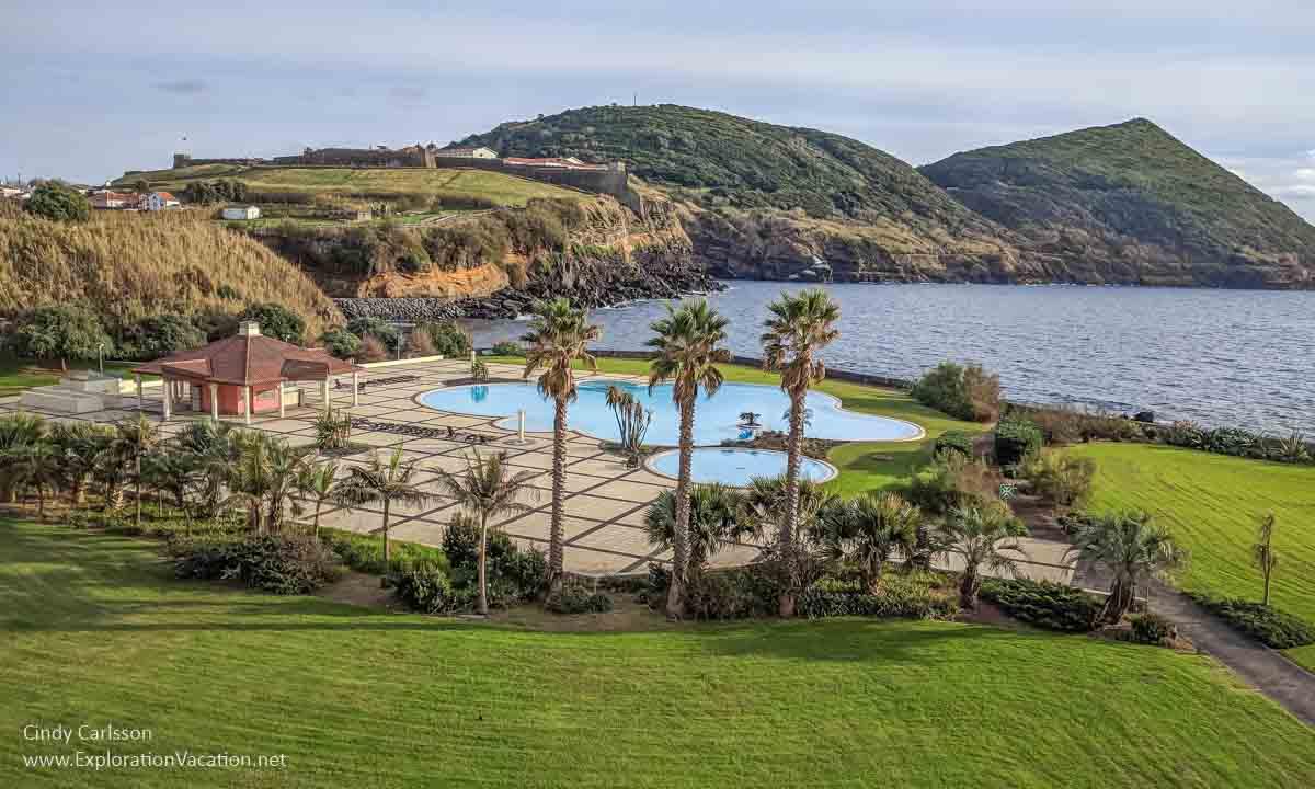 pool area along the sea in Angra do Heroismo Terceira