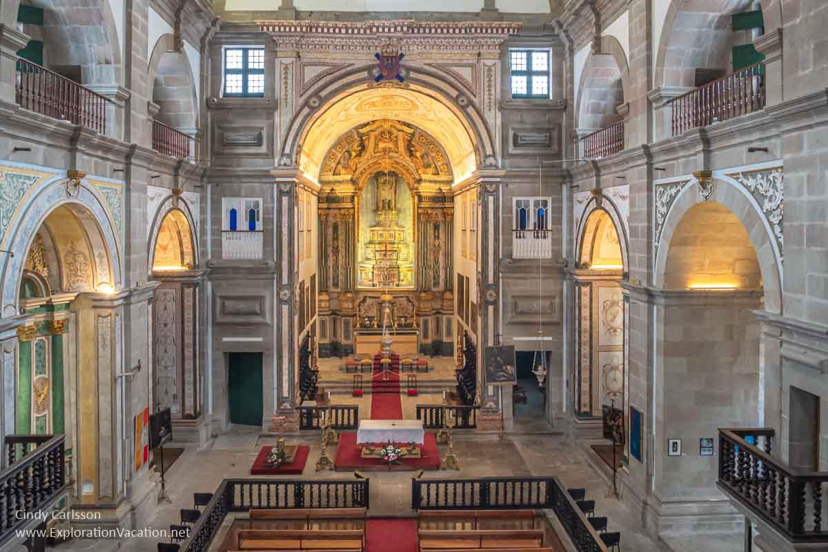 interior of a large Catholic church